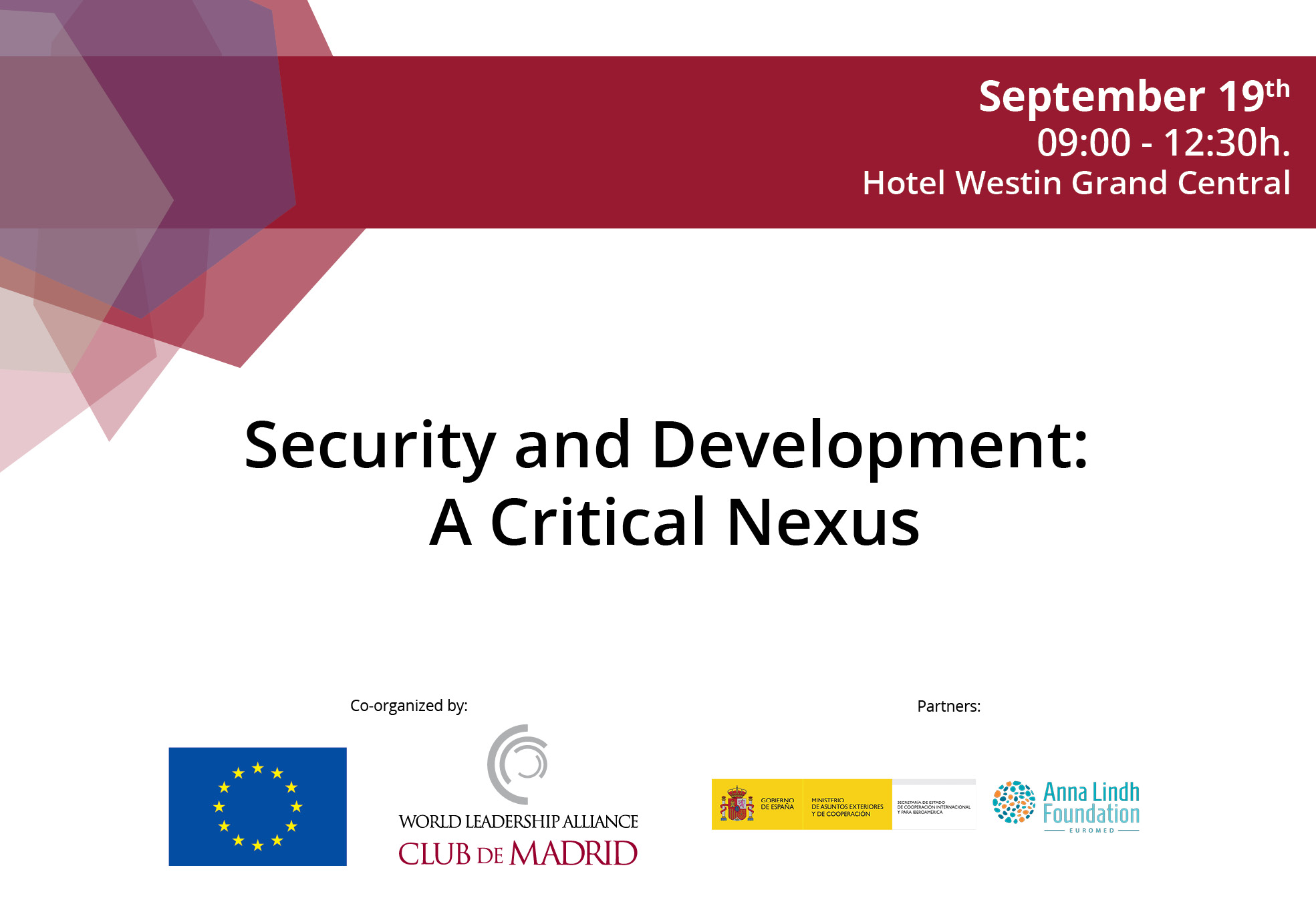 The nexus between counter terrorism, development and Agenda 2030 brings together CdM Members and decision makers from the EU and the UN