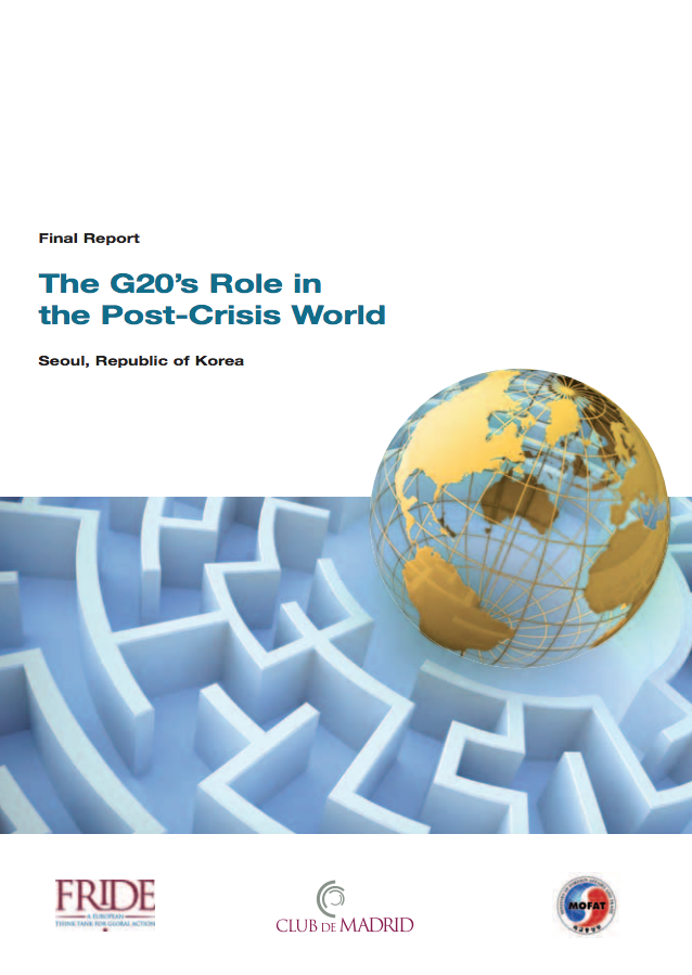The G20's role in the post-crisis world