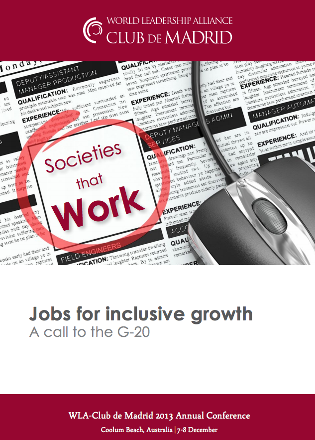 Jobs for inclusive growth - A call to the G20