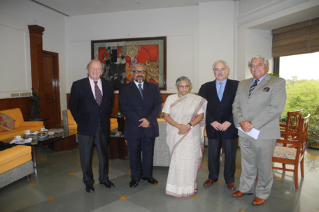 Meeting with Sheila Dikshit, Chief Minister of Government of the State of New Delhi