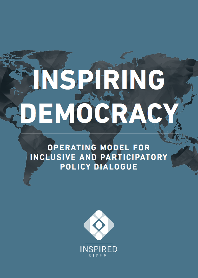 Operating model for inclusive and participatory policy dialogue