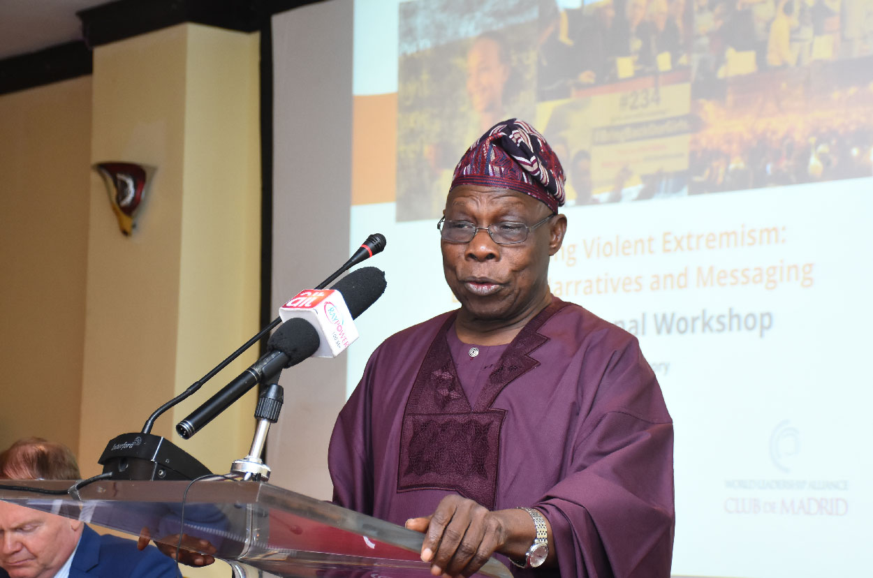 Obasanjo urges governments to invest in its people in order to tackle violent extremism