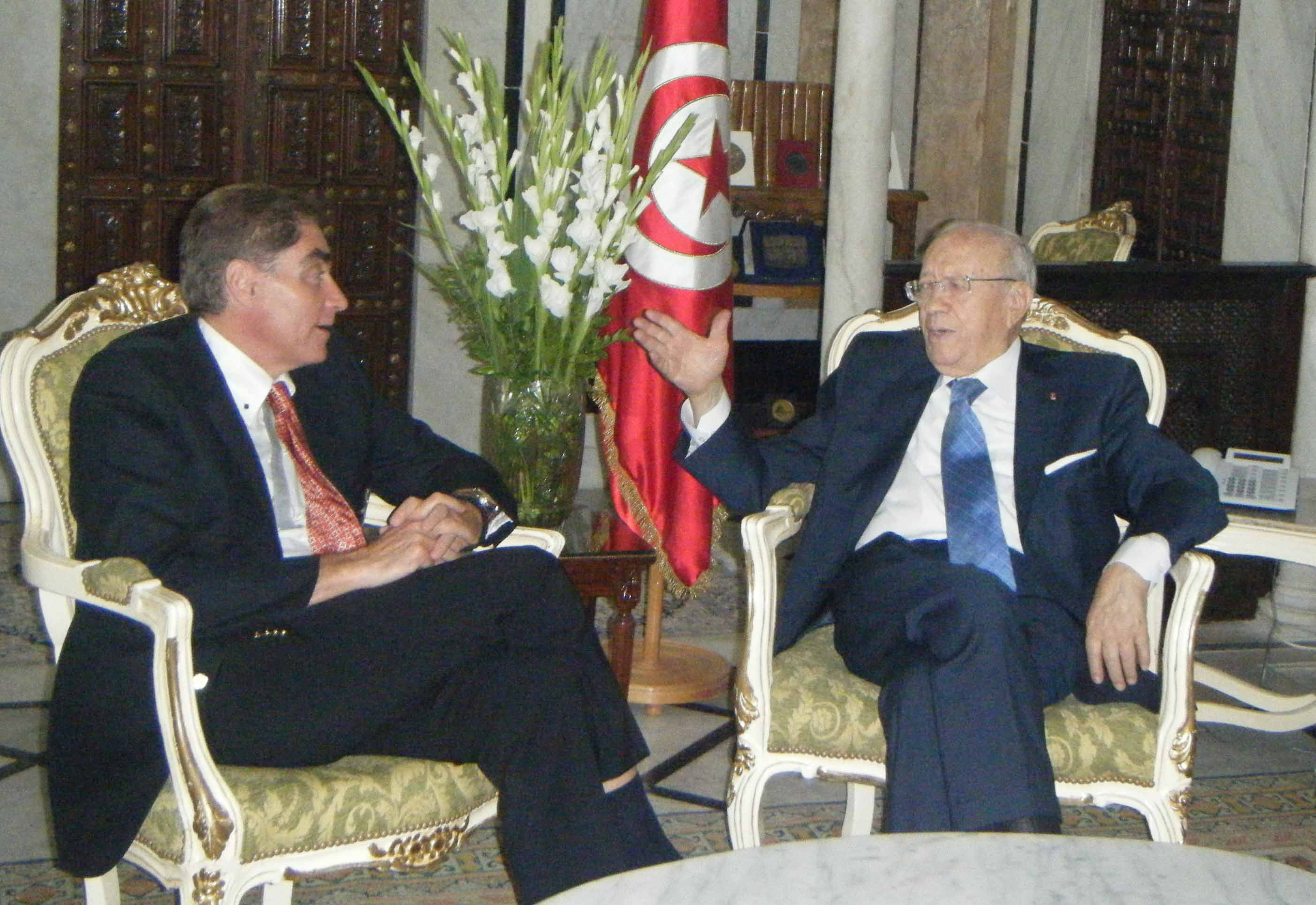 Petre Roman Meets with Tunisian Prime Minister to Support Democratic, Peaceful and Inclusive Transition