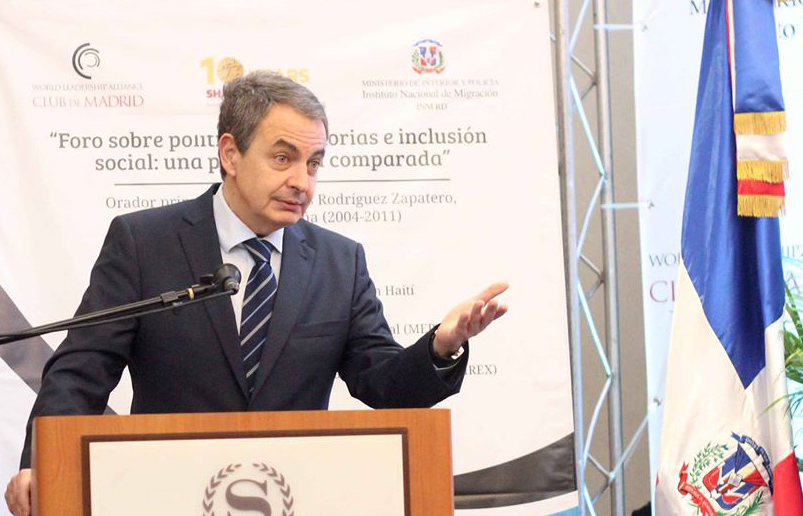 Zapatero advocates for a humane approach to the issue of migration in Dominican Republic