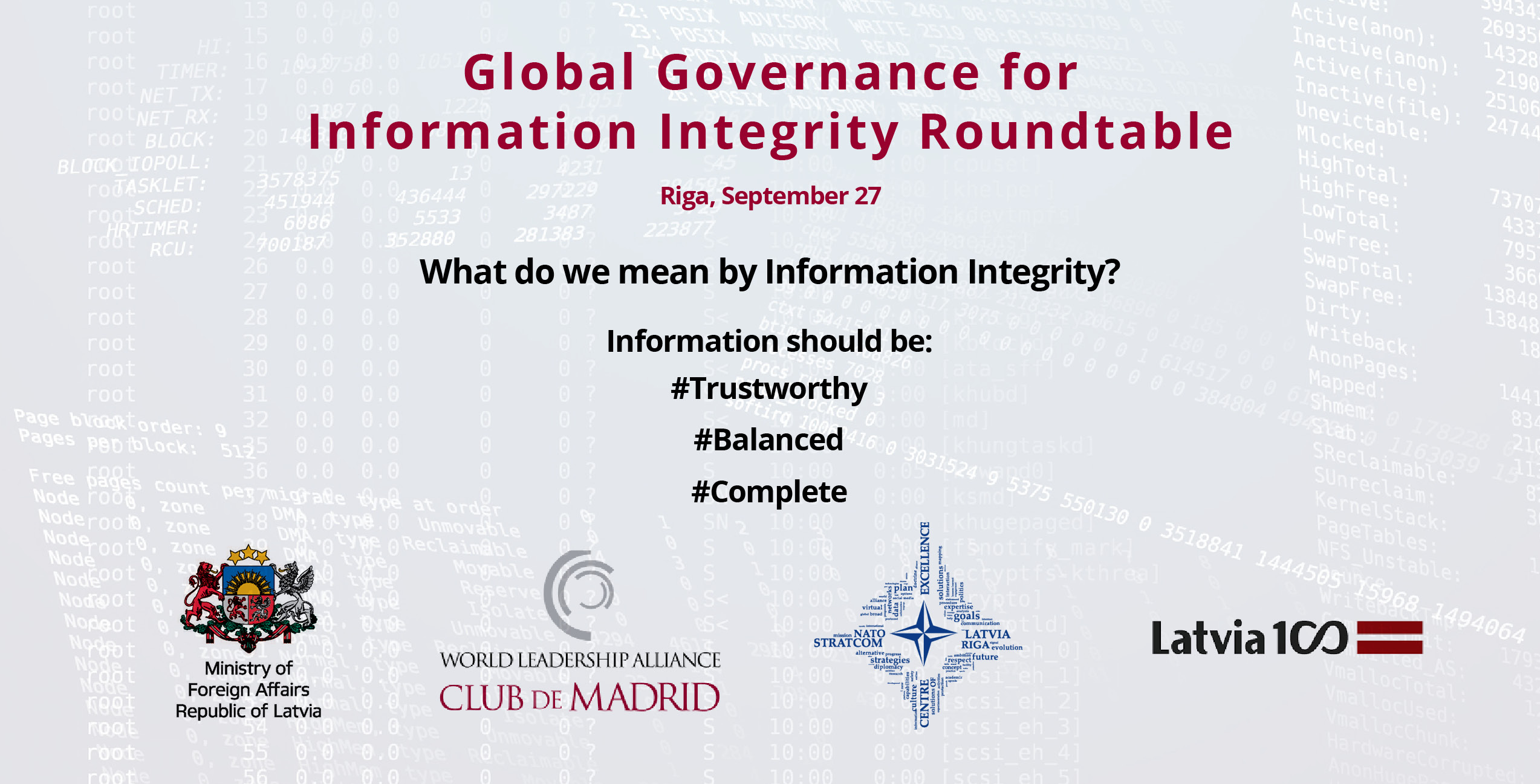 Club de Madrid to host a global discussion on threats to information integrity ahead of the Riga Conference 2018