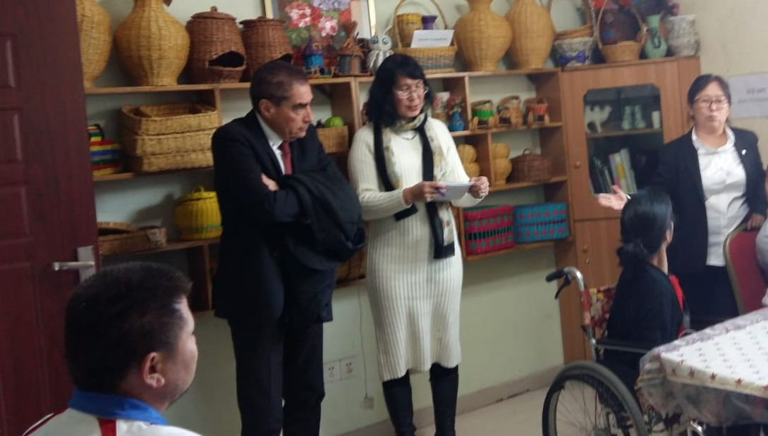 Former PM of Romania Petre Roman supports the rights of disabled people in Mongolia