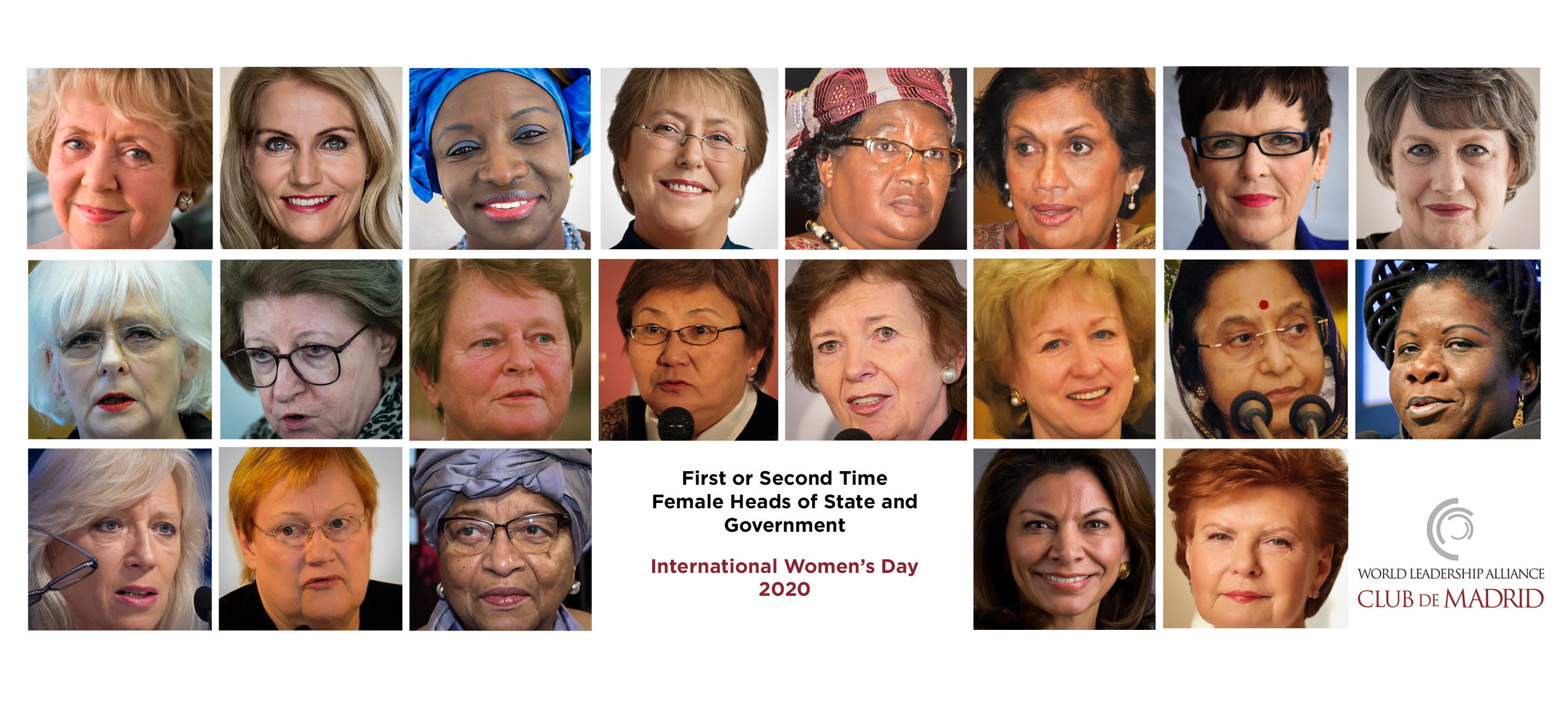 International Women's Day 2020: First and second-time female Heads of State or Government demand more women in leadership