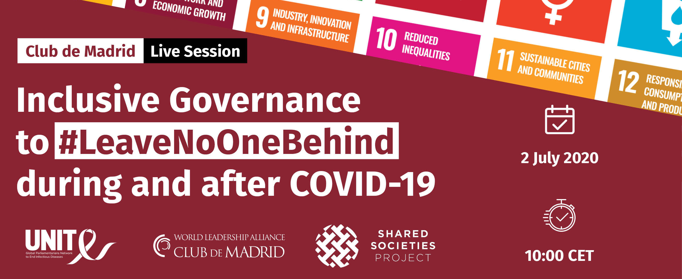 Live Session: Inclusive Governance to #LeaveNoOneBehind during and after COVID-19