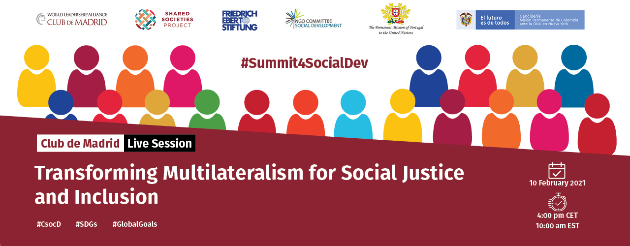 Live Session: Transforming Multilateralism For Social Justice and Inclusion