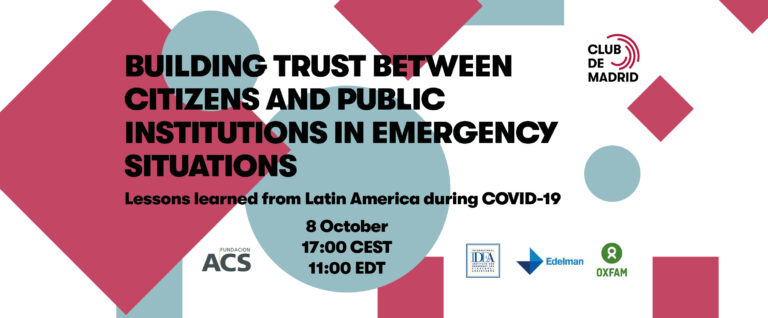 Live Session: Building trust between citizens and public institutions in emergency situations